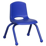 ECR4Kids® 10(H) Matching Legs Plastic Stack Chair With Ball Glides, Blue