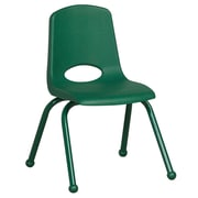 ECR4Kids® 14(H) Matching Legs Plastic Stack Chair With Ball Glides, Green