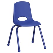 ECR4Kids® 16(H) Matching Legs Plastic Stack Chair With Ball Glides, Blue
