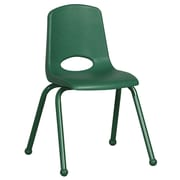 ECR4Kids® 16(H) Matching Legs Plastic Stack Chair With Ball Glides, Green