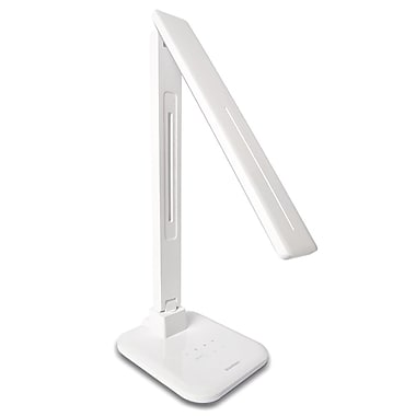 K-Hit® DL-61H 11 W Standard LED Desk Lamp With USB Charger, White