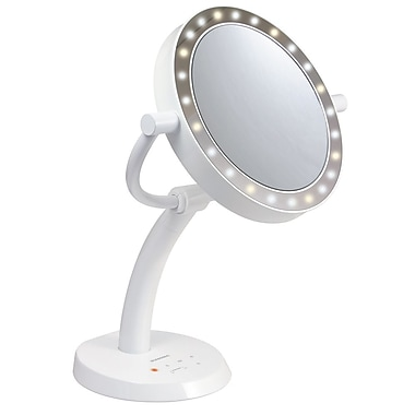 K-Hit® LED Lamp Make Up Mirror , 7x magnification, White