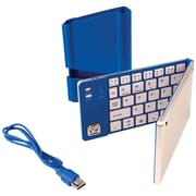 Iwerkz 44652R Universal Foldable Bluetooth Keyboard, Blue