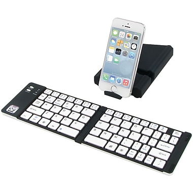 Iwerkz 44652R Universal Foldable Bluetooth Keyboard, Black