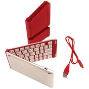Iwerkz 44652R Universal Foldable Bluetooth Keyboard, Red