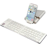 Iwerkz 44652R Universal Foldable Bluetooth Keyboard, White