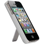 iSound® TriView ABS Plastic Case With Metal Kickstand For iPhone4/4s, Silver