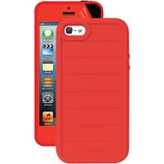 iSound® DuraGuard 3-in-1 Silicone Case With Screen Protector For iPhone5s, Red