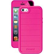 iSound® DuraGuard 3-in-1 Silicone Case With Screen Protector For iPhone5s, Pink