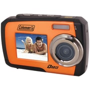 Coleman® Duo 2V7WP Dual Screen Waterproof Camera, Orange