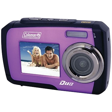 Coleman® Duo 2V7WP Dual Screen Waterproof Camera, Purple