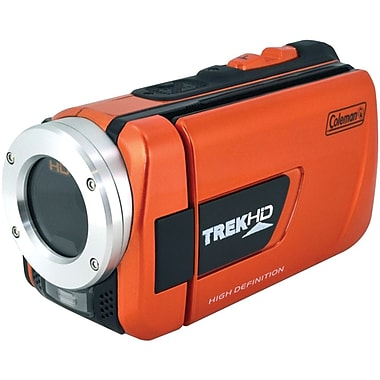 Coleman® TrekHD Full HD Waterproof Camcorder, 2 1/2in. x 2in. x 4 1/2in., Orange