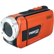 "Coleman® TrekHD Full HD Waterproof Camcorder, 2 1/2"" x 2"" x 4 1/2"", Orange"