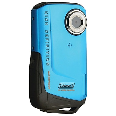 Coleman® Full HD Xtreme Waterproof Camcorder, 2 1/2in. x 1/2in. x 4 1/2in., Blue