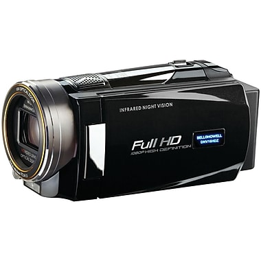 Bell & Howell Rogue Full HD Night Vision Camcorder, 2.2in. x 2in. x 5.4in., Black