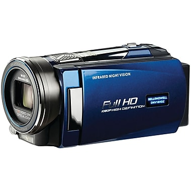 Bell & Howell Rogue Full HD Night Vision Camcorder, 2.2in. x 2in. x 5.4in., Blue