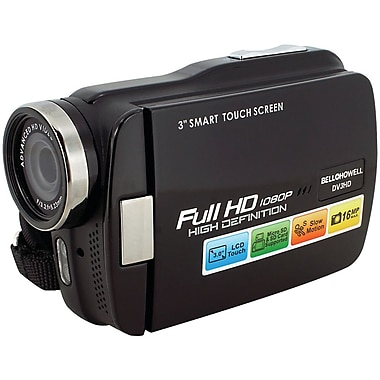 Bell & Howell Slim HD Camcorder, 2.3in. x 1.2in. x 4in., Black
