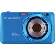 Bell & Howell S30HDZ 15 MP Slim Digital Camera With 5x Optical Zoom, Blue