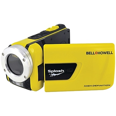 Bell & Howell SplashHD Underwater Digital Video Camcorder, 2 1/2in. x 2in. x 4 1/2in., Yellow