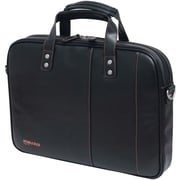 Mobile Edge Slimline Briefcase For Upto 14.1 Ultrabook, Black/Orange