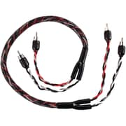 T-Spec 3' V12 Series RCA Audio Cable With Quad Split Tip, Black/Red