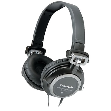 Panasonic RP-DJ600 DJ Style Headphones With Swivel Mechanism and Carrying Pouch, Black