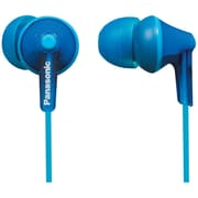 Panasonic RP-TCM125 ErgoFit Earbud Headphones With Remote and Microphone, Blue