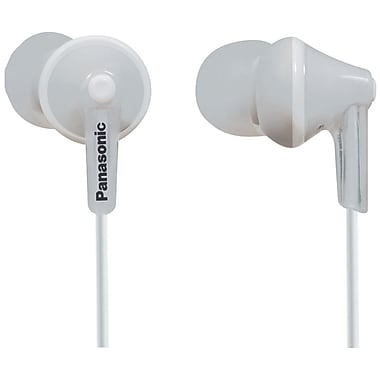 Panasonic RP-TCM125 ErgoFit Earbud Headphones With Remote and Microphone, White