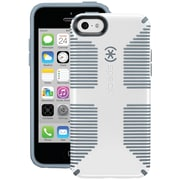 Speck® CandyShell Grip Plastic and Rubber Hard-Shell Case For iPhone5c, White/Gravel Gray