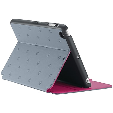 Speck® StyleFolio Case For iPad mini With Retina Display, LoveSpace Nickel/Raspberry