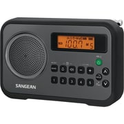 Sangean PR-D18 FM-Stereo/AM Digital Tuning Portable Receiver With Alarm Clock, Black