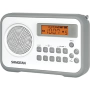 Sangean PR-D18 FM-Stereo/AM Digital Tuning Portable Receiver With Alarm Clock, Gray