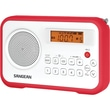 Sangean PR-D18 FM-Stereo/AM Digital Tuning Portable Receiver With Alarm Clock, Red