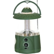Northpoint 12 LED Lantern With 4 LED Flashlight and AM/FM Radio, Green