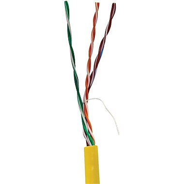 Vericom TCTMBW5U01443 1000' CAT-5e UTP Solid Riser CMR Cable, Yellow