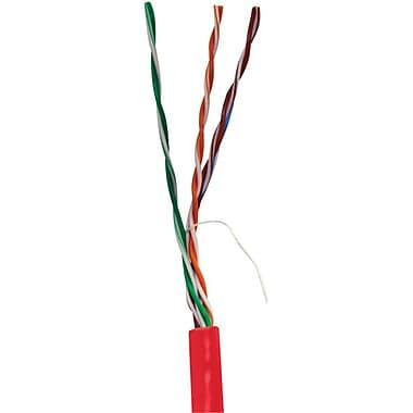 Vericom® 1000' Pull Box Cat 5e UTP Solid Riser CMR Cable, Red