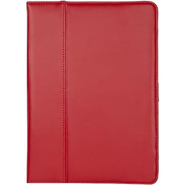 Cyber Acoustics Leather Cover Case For iPad Air, Red