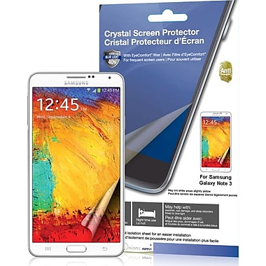 Green Onions Supply® Crystal Screen Protector For Samsung Galaxy Note III/3, Clear, 2/Pack