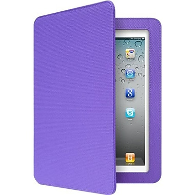 Aluratek Slim Color Folio Case With Bluetooth Keyboard For iPad 2nd/3rd/4th Gen, Grape Jelly