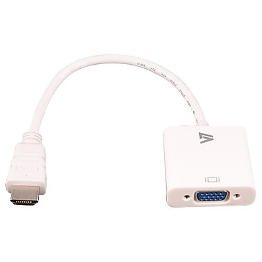 V7® 9.6in. HDMI to VGA Adapter Cable, White