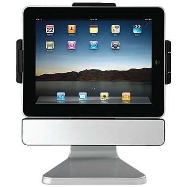 SMK-Link VP3650 VER. 2 PadDock 10 Stand & Stereo Cradle With Speakers For iPad 2, Silver