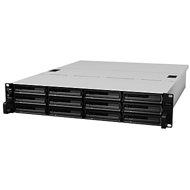 Synology® 48TB Diskless Rack-Mountable Network NAS Server (Black)