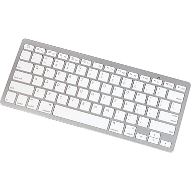 Manhattan® 177887 Bluetooth 2.0 Tablet Mini Keyboard For iPad, White/Silver