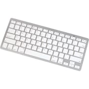 Manhattan® 177887 Bluetooth 2.0 Tablet Mini Keyboard For iPad, White/Silver
