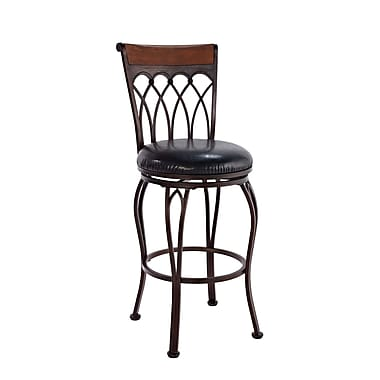 Boraam Vin Metal 24in. Swivel Stool, Brush Bronze