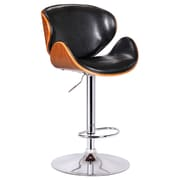 Boraam Osa Bentwood Adjustable Swivel Stool, Black