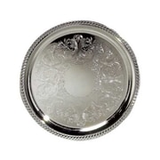 Elegance Silver 8236 Silver-Plated Metal Tray, Silver