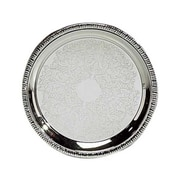 Elegance Silver 8237 Silver-Plated Metal Tray, Silver