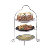 Elegance Silver 8509 Silver-Plated 3-Tier Dessert Stand