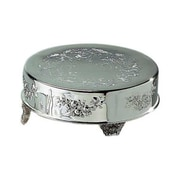 "Elegance Silver 89902 18"" Silver-Plated Round Cake Stand"